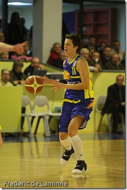 Namur, 20/12/2007 Dexia Namur contre Kosit 2013 Kosice en 1/16 de finales de l'Euroleague de Basket féminin (groupe C)