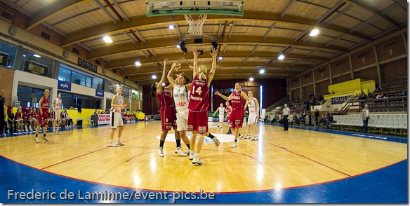 Basket Dames : Match Amical Dexia Namur Capitale contre Lotto Young Cats