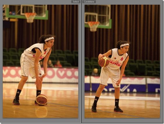 photo de basket il est préférable d'avoir la balle au contact de la main